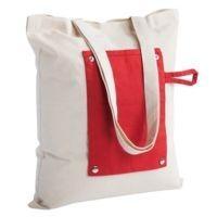 Холщовая сумка Dropper, складная, красная