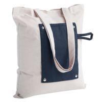Холщовая сумка Dropper, складная, синяя