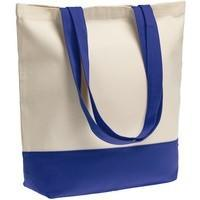 Холщовая сумка Shopaholic, ярко-синяя