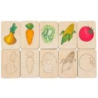 Карточки-раскраски Wood Games, овощи