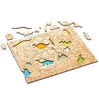 Развивающий эко-пазл Wood Games, динозавры