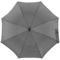 Зонт-трость rainVestment, светло-серый меланж