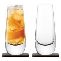 Набор бокалов Islay Whisky с деревянными подставками