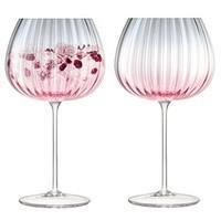 Набор бокалов Dusk, розовый с серым