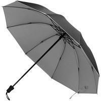Зонт-наоборот складной Silvermist, черный с серебристым