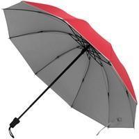 Зонт-наоборот складной Silvermist, красный с серебристым