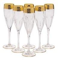 Набор «Джотто» из 6 бокалов для шампанского, золочение