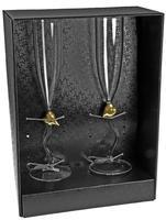 Пара бокалов для шампанского «Сердце»