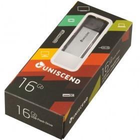Флешка Uniscend Doubles, с Micro USB, серебристая 16 Гб