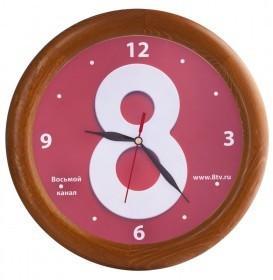 Часы настенные с деревянным ободом, дуб