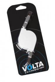Кабель Volta, 2 в 1, белый