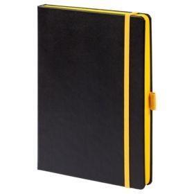 Ежедневник Tone недатированный, черный с желтым