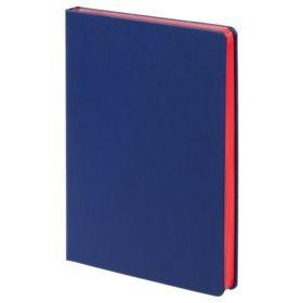 Ежедневник Blues недатированный, синий с красным