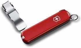Нож-брелок Nail Clip 582, красный