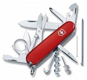 Офицерский нож Explorer 91 с мини-отверткой, красный
