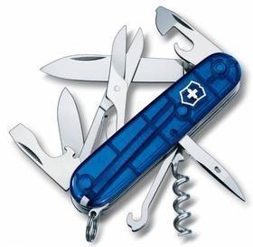 Офицерский нож CLIMBER 91, прозрачный синий