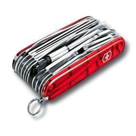 Офицерский нож SwissChamp XLT 91, прозрачный красный