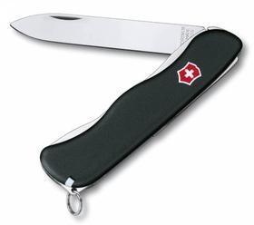 Солдатский нож с фиксатором лезвия Sentinel, черный