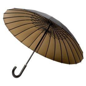 Зонт-трость Ella, черный с бронзовым