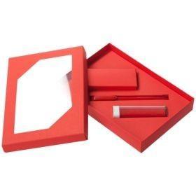 Набор Energy: аккумулятор и ручка, красный