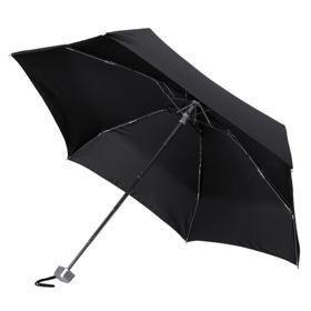 Складной зонт Alu Drop, 5 сложений, механический, черный