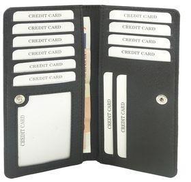Футляр для пластиковых карт Saffiano, черный