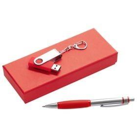 Набор Notes: ручка и флешка 8 Гб, красный