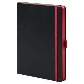 Ежедневник Tone недатированный, черный с красным