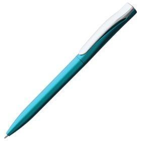Ручка шариковая Pin Silver, голубой металлик