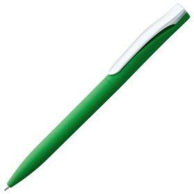 Ручка шариковая Pin Soft Touch, зеленая