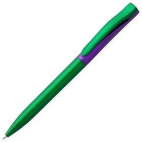 Ручка шариковая Pin Fashion, зелено-фиолетовый металлик