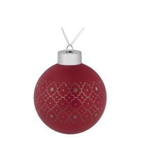 Елочный шар Chain, 8 см, красный