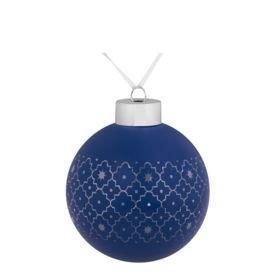 Елочный шар Chain, 8 см, синий