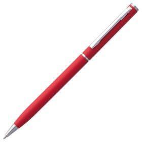 Ручка шариковая Hotel Chrome, ver.2, матовая красная