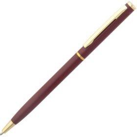 Ручка шариковая Hotel Gold, ver.2, матовая бордовая