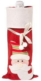 Мешок для шампанского «Дед Мороз», красный