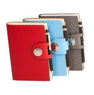 Книга для записей LEFA, линованная, красная, с карандашом