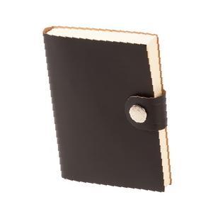 Книга для записей LEFA, линованная, черная