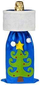 Мешок для шампанского «Елочка», синий