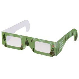 Новогодние 3D очки «Елочки», зеленые